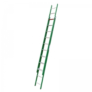 Commercial push up extension ladder